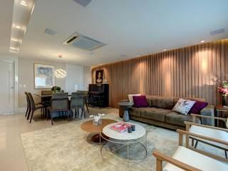 Apartamento R|D Salas de estar modernas por Dome arquitetura Moderno