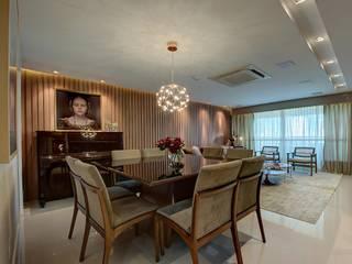 Apartamento R|D Salas de jantar modernas por Dome arquitetura Moderno