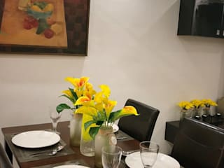 SNS Lush Designs and Home Decor Consultancy Sala da pranzo eclettica Bianco