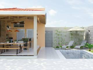 Espaço gourmet com piscina por Daniela Ponsoni Arquitetura Eclético