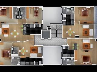 Planta Tipo: Habitaciones de estilo  por MSA Arquitectos