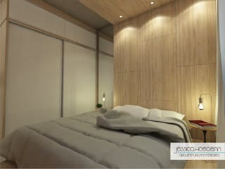 Bedroom by Arquiteta Jéssica Hoegenn - Arquitetura de Interiores