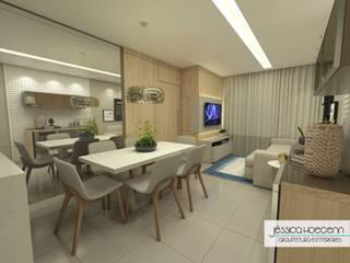 Dining room by Arquiteta Jéssica Hoegenn - Arquitetura de Interiores
