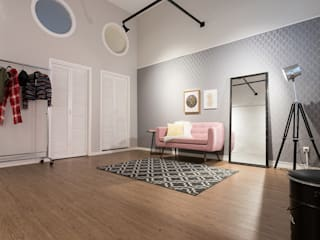 Studio Ideação Modern commercial spaces Wood Pink
