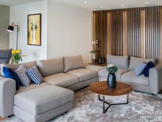 Apartamento na Foz do Douro: Salas de estar  por Paloma Agüero Design,Moderno
