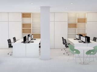 Edificios de oficinas de estilo escandinavo de IAM Interiores Escandinavo