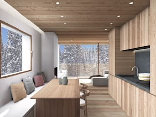 Minimalist dining room by studio conte architetti Minimalist