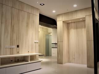 自然梧居:  客廳 by 喬克諾空間設計