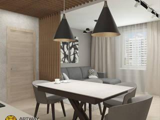 Городские джунгли: Гостиная в . Автор – ARTWAY центр профессиональных дизайнеров и строителей