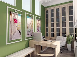 Рабочий кабинет: Рабочие кабинеты в . Автор – ARTWAY центр профессиональных дизайнеров и строителей
