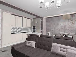 Солнечный берег: Встроенные кухни в . Автор – ARTWAY центр профессиональных дизайнеров и строителей
