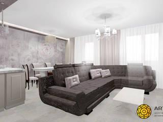 Солнечный берег: Гостиная в . Автор – ARTWAY центр профессиональных дизайнеров и строителей