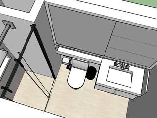 PROJETO CONDOMINIO VILA DAS FONTES : Banheiros  por Liliane Sant'Anna - Design de Interiores