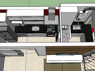 PROJETO CONDOMINIO VILA DAS FONTES : Cozinhas embutidas  por Liliane Sant'Anna - Design de Interiores