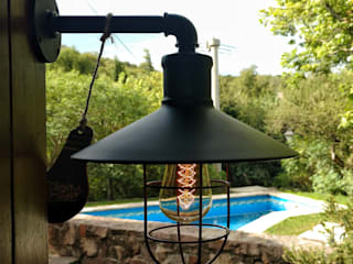 Lamparas Vintage Vieja Eddie Garden Lighting Besi/Baja Black
