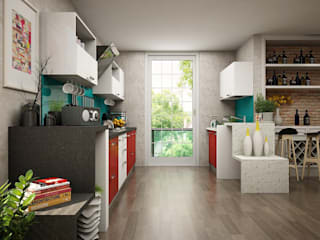Modular Kitchen Design Ideas:  Kitchen by HomeLane.com