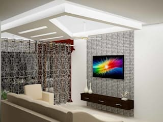 Mr. Guru & Shailaja home interior:  Living room by Inshows Displays Private Limited