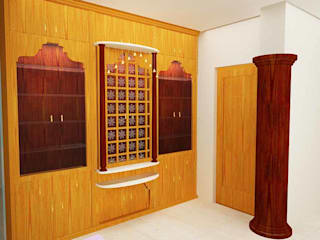 Mr. Guru & Shailaja home interior:  Walls by Inshows Displays Private Limited