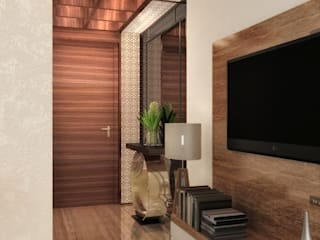 2 BHK at Chandivali, Mumbai Modern living room by A Design Studio Modern