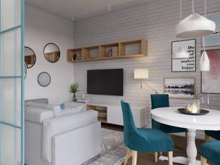 Апартаменты в скандинавском стиле : Гостиная в . Автор – Dinastia Designs
