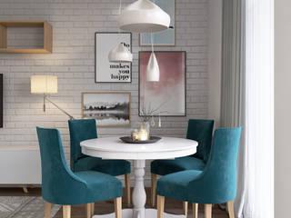 Апартаменты в скандинавском стиле : Столовые комнаты в . Автор – Dinastia Designs