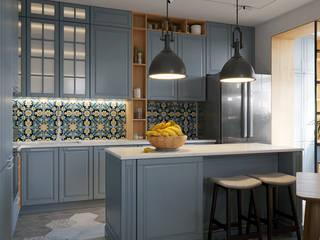 Апартаменты на ул.Бамбуковой, г.Сочи: Кухни в . Автор – Dinastia Designs