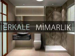 ERKALE MİMARLIK - ANKARA & ANTALYA – BANYO: modern tarz Banyo
