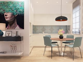 Апартаменты в ЖК «Мосфильмовский» в г. Москва: Кухни в . Автор – Dinastia Designs