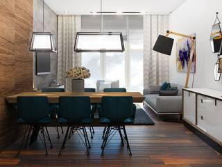 """Современные апартаменты в ЖК """"Актер-Гэлэкси"""" в г.Сочи: Столовые комнаты в . Автор – Dinastia Designs"""