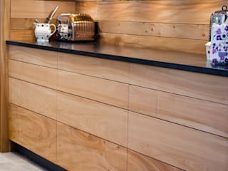 Elm Linear Kitchen Hout Design Unit dapur
