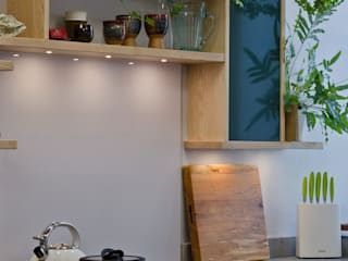Ash and concrete Kitchen Hout Design Unit dapur