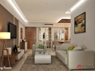 A Design Studio Living room Brown
