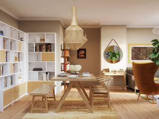 Living-room and dining-room design: Comedores de estilo  de Isabel Gomez Interiors