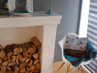 2-Zimmer-Appartement München:  Wohnzimmer von studio kristin engel