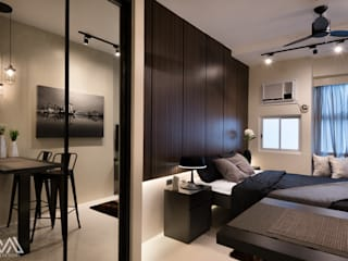 Modern Lux - Wil Tower QC Modern style bedroom by MVRX Designs Modern