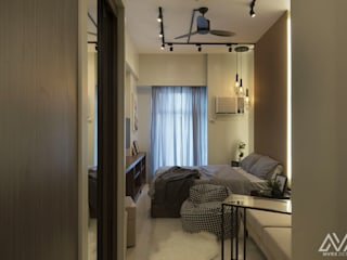 Industrial style corridor, hallway and stairs by MVRX Designs Industrial