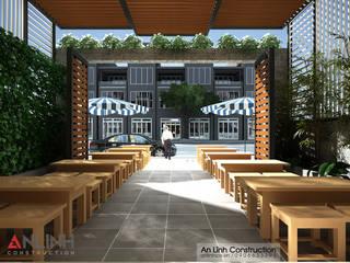 Thiết kế nhà phố kết hợp làm quán cafe tại Bình Dương:   by CÔNG TY THIẾT KẾ XÂY DỰNG AN LĨNH