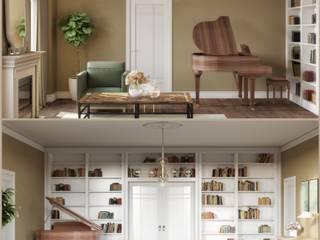 Classic living-room design:  de estilo  de Isabel Gomez Interiors