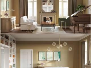 Classic living-room design: Salones de estilo  de Isabel Gomez Interiors