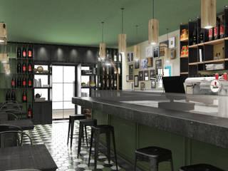 MAMALU restaurant: Negozi & Locali commerciali in stile  di Studio Gentile,