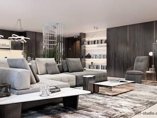 Apartment on the island of Grand Jutt: Гостиная в . Автор – Diff.Studio, Модерн