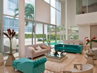 Cabas/Garzon Arquitectos Salones de estilo moderno Blanco