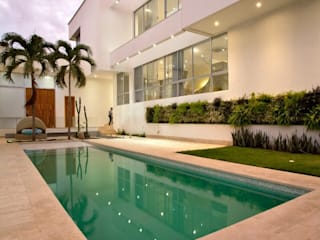 Cabas/Garzon Arquitectos Casas de estilo moderno Blanco