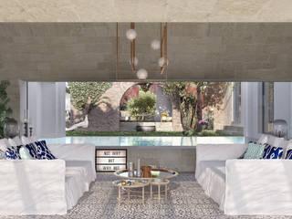 Can Abi Phòng khách phong cách Địa Trung Hải bởi architetto stefano ghiretti Địa Trung Hải