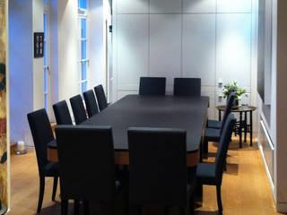 Penthouse in London, Umbau und Sanierung:  Esszimmer von Meyerfeldt Architektur & Innenarchitektur im Raum Hamburg