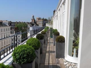 Penthouse in London, Umbau und Sanierung:  Balkon von Meyerfeldt Architektur & Innenarchitektur im Raum Hamburg
