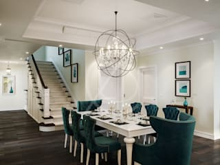 American Style House Interior Design:  Dining room by Comelite Architecture, Structure and Interior Design