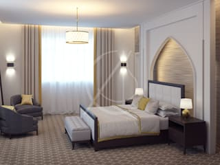 Modern Islamic Home Interior Design:  Bedroom by Comelite Architecture, Structure and Interior Design