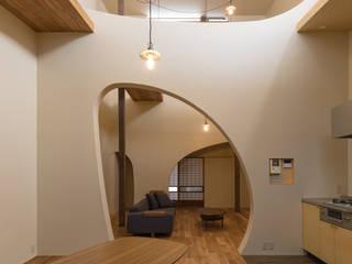 ダイニング全景: 一級建築士事務所 SAKAKI Atelierが手掛けたダイニングです。