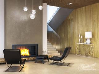 Дизайн-проект интерьера загородного дома: гостиная: Гостиная в . Автор – Студия Инстильер | Studio Instilier